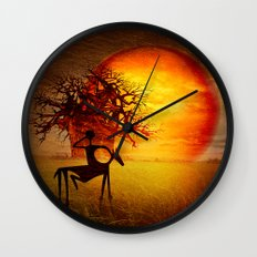 Visions of fire Wall Clock