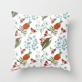 Australian Botanicals - White Throw Pillow