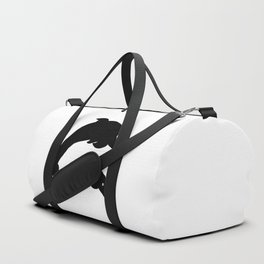 dolphins black and white sketch Duffle Bag