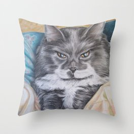Cat: Babs Throw Pillow