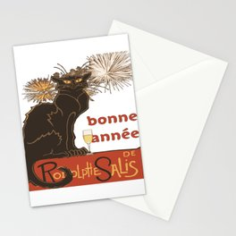 Bonne Annee Happy New Year Parody Stationery Cards