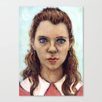 karu kara Canvas Prints featuring Suzy - Moonrise Kingdom - Kara Hayward by Heather Buchanan