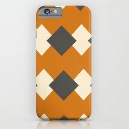 Minimal Abstract Vintage Cream Orange Grey 05 iPhone Case