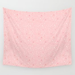 Pink stars Wall Tapestry