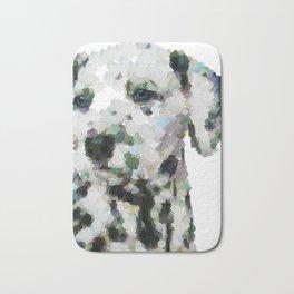 Dalmatian  puppy portrait discover Art Print Bath Mat