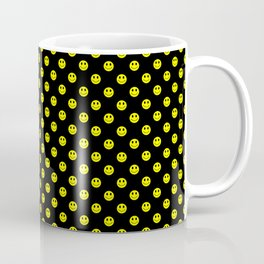 Smiley Happy in yellow color on a blackbackground - EFS168 Coffee Mug