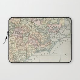 Vintage Map of Eastern North Carolina (1891) Laptop Sleeve