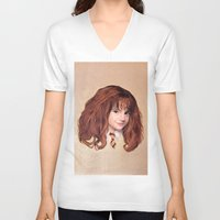 hermione V-neck T-shirts featuring Hermione by Shannon Forringer