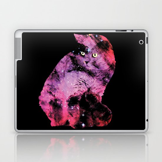 Celestial Cat - The British Shorthair & The Pelican Nebula Laptop & iPad Skin