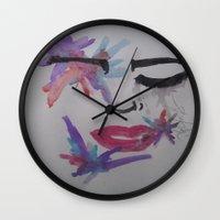splatter Wall Clocks featuring Splatter. by TheArtOfFaithAsylum