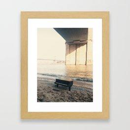 east river piano Framed Art Print