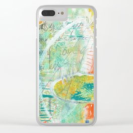 abstract 3 the great loneliness Clear iPhone Case