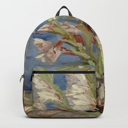"""Vincent Van Gogh """"Vase with Gladioli and Chinese Asters"""" Backpack"""
