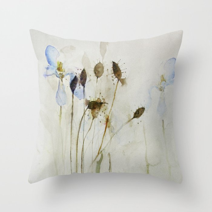 beautiful weeds Throw Pillow