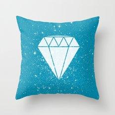 Space Diamond (blue) Throw Pillow
