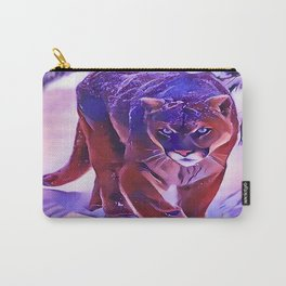 Mountain Lion Hunting in The Snow Carry-All Pouch