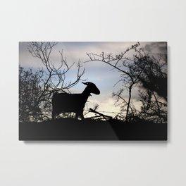 Goat silhouette Metal Print