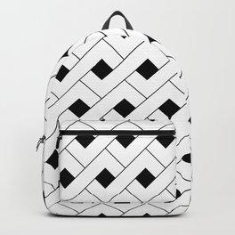 Monochrome Intricate Pattern Alpha Backpack