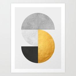 Golden Geometric Art VII Art Print