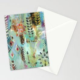 """""""Fly Free Between"""" Original Painting by Flora Bowley Stationery Cards"""