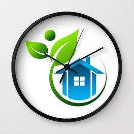 Eco Friendly House Wall Clock