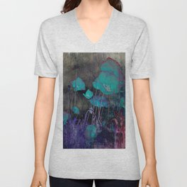 Poppies Abstract Unisex V-Neck