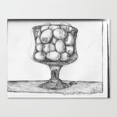 eggs in glass Canvas Print