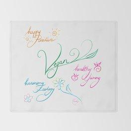 Vegan & happy lifestyle Throw Blanket
