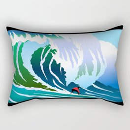 Big Surfer Rectangular Pillow