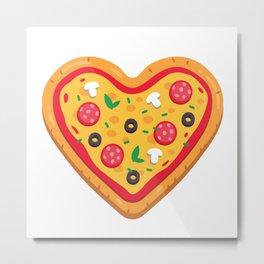 Pizza Love Metal Print