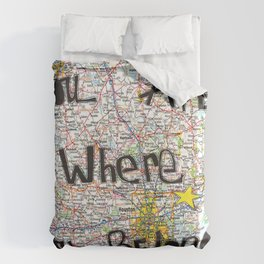 Where You Belong-Houston Duvet Cover