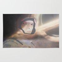 interstellar Area & Throw Rugs featuring Interstellar by Itxaso Beistegui Illustrations