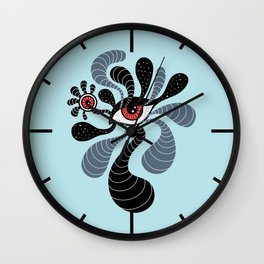 Abstract Surreal Double Red Eye Wall Clock
