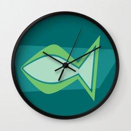 Jesus Fish — Ichthys Christian symbol Wall Clock