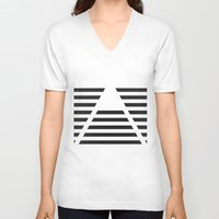 pyramid V-neck T-shirts featuring Pyramid by Justin Yanke