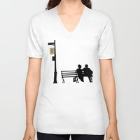 manhattan V-neck T-shirts featuring Manhattan by FilmsQuiz