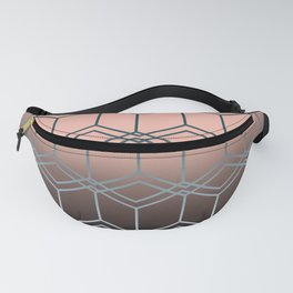 Brown pink geometric pattern Fanny Pack