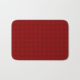 Australian Flag Red and Black Houndstooth Check Bath Mat