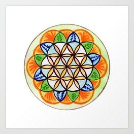 Celebrate Life Mandala Art Print