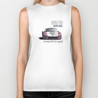 moby dick Biker Tanks featuring Porsche 935/78 Moby Dick by vsixdesign