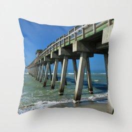 Fishing Pier - Venice Florida Throw Pillow