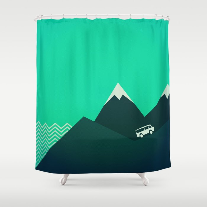 Travel Shower Curtain By Orcevasilev