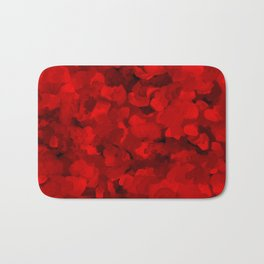 Rich Scarlet Red Gradient Abstract Bath Mat