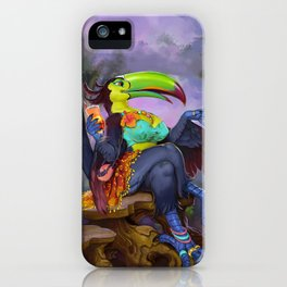 Mix of Paradise Toucan iPhone Case