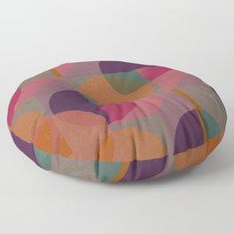 Warm-coloured geometric pattern Floor Pillow