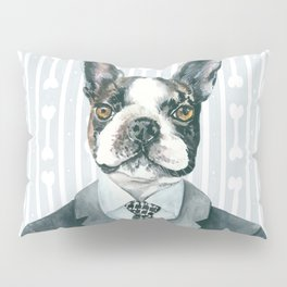 Boston Terrier Dressed for Dinner Pillow Sham