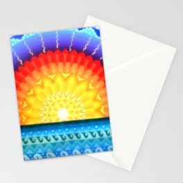 Sunrise Mandala, by Soozie Wray Stationery Cards