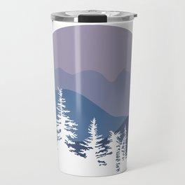 Mountain Sunrise Blue Hues Travel Mug