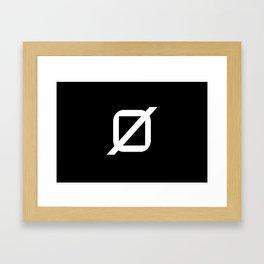 Agender Pride Flag Framed Art Print