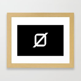 Agender Pride Flag Framed Art Print